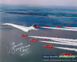 Concorde and The Red Arrows 1997 - Signed 16x12