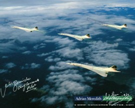 Concorde Formation over The Bristol Channel, England 1986 - Signed 16x12