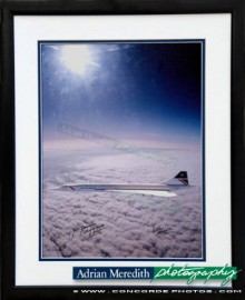 Only Photograph of Concorde G-BOAG flying supersonic at Mach 2 - Framed and Signed 16x12