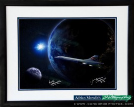 Concorde Out Of This World - Framed and Signed 16x12