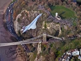 Concorde's last flight over Clifton Suspension Bridge