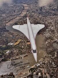 Last flight Concorde over London