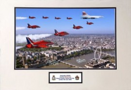Limited Concorde and Red Arrows Queens Jubilee flypast