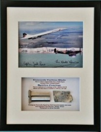 Limited Concorde and Spitfire Framed Metal