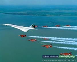 Concorde and The Red Arrows 1997 - 16x12