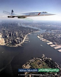 Concorde Over Manhatan 1986 - 20x16