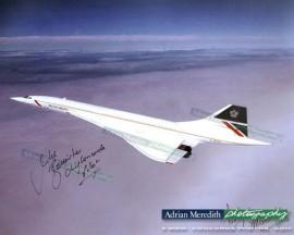 Concorde G-BOAG over Preswick, Scotland - Signed 16x12