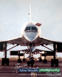Three Concordes Line Up on Last Day 24-Oct-2003 - Signed 16x12