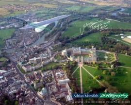 Concorde Over Windsor Castle - Signed 16x12