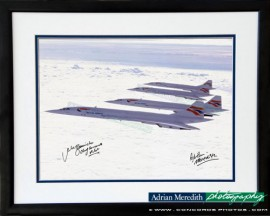 Concorde Formation - Framed and Signed 16x12