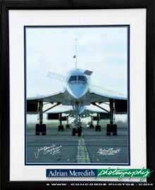 Three Concordes Line Up on Last Day 24-Oct-2003 - Framed and Signed 16x12