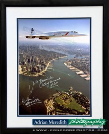Concorde Over Manhatan 1986 - Framed and Signed 16x12